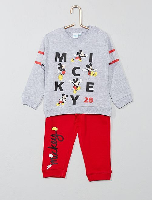 Pijama largo 'Mickey'                                         GRIS Chico