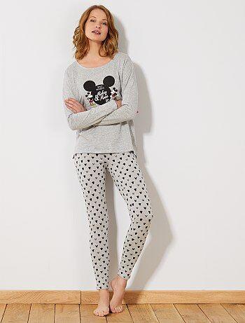 Pijama largo 'Mickey & Minnie' - Kiabi
