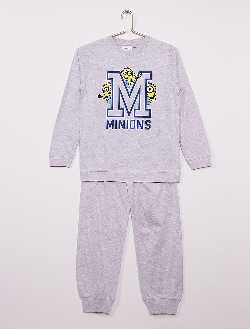 Pijama largo 'Minions'                             gris