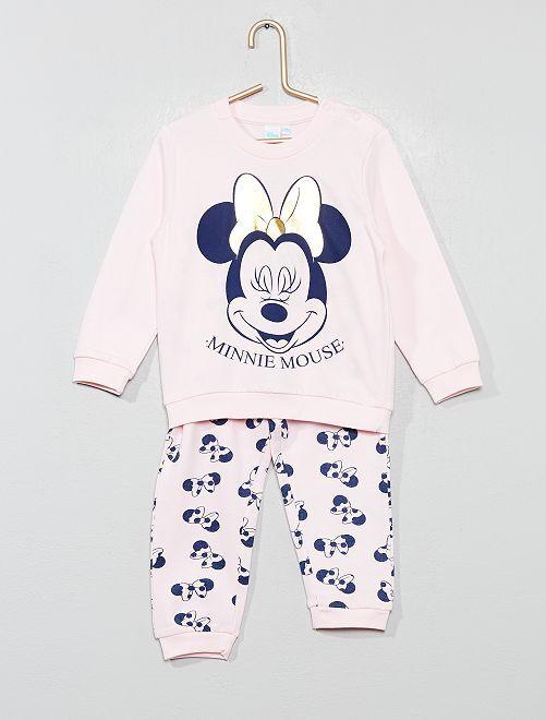 Pijama largo 'Minnie Mouse'                                         rosa