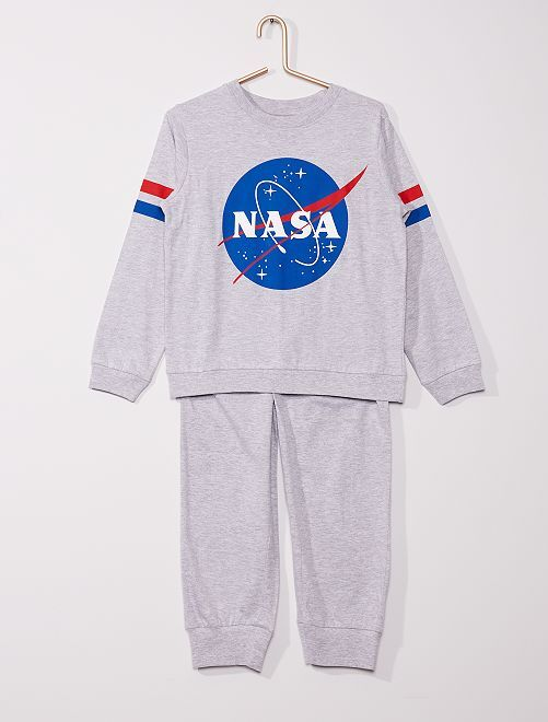 Pijama largo 'Nasa'                             gris