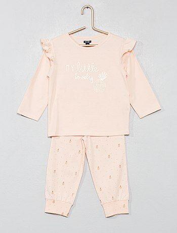 00748d08ce Niña 0-36 meses - Pijama largo  piñas  - Kiabi