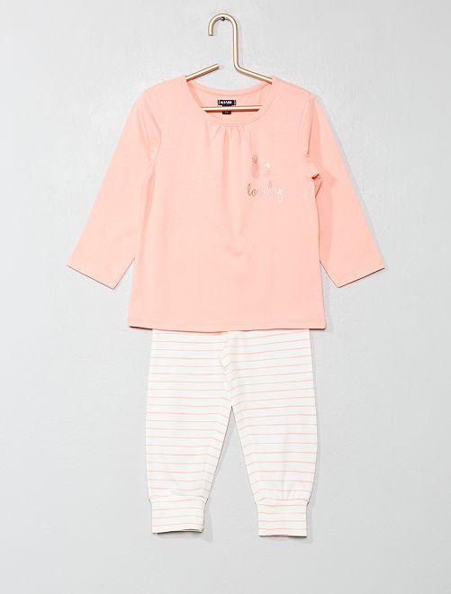 Pijama largo 'piñas'                                         ROSA Bebé niña