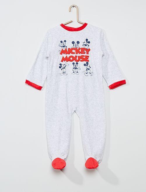 Pijama largo polar 'Mickey Mouse' de 'Disney'                                         gris/rojo