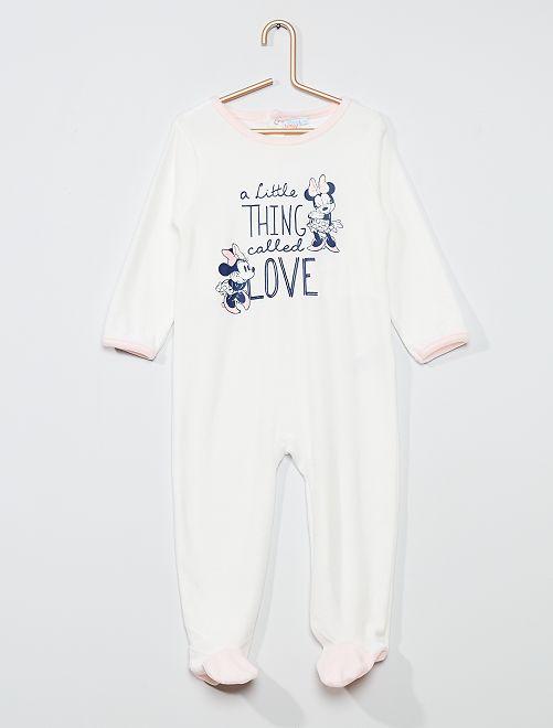 Pijama largo polar 'Minnie Mouse' de 'Disney'                                         crudo