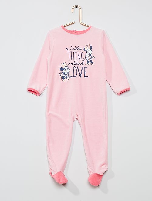 Pijama largo polar 'Minnie Mouse' de 'Disney'                                         rosa