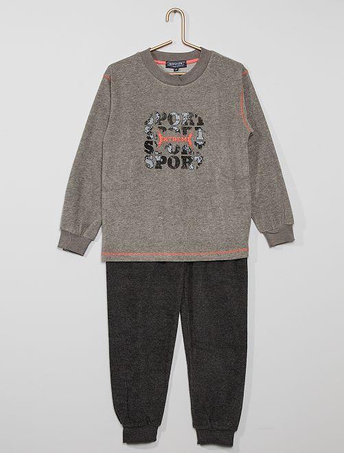 Pijama largo 'sport'                                         gris claro