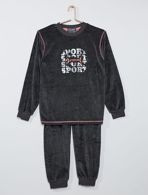 Pijama largo 'sport'                                         gris