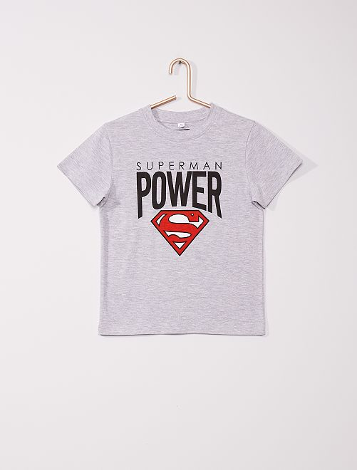 Pijama largo 'Superman'                             gris/negro