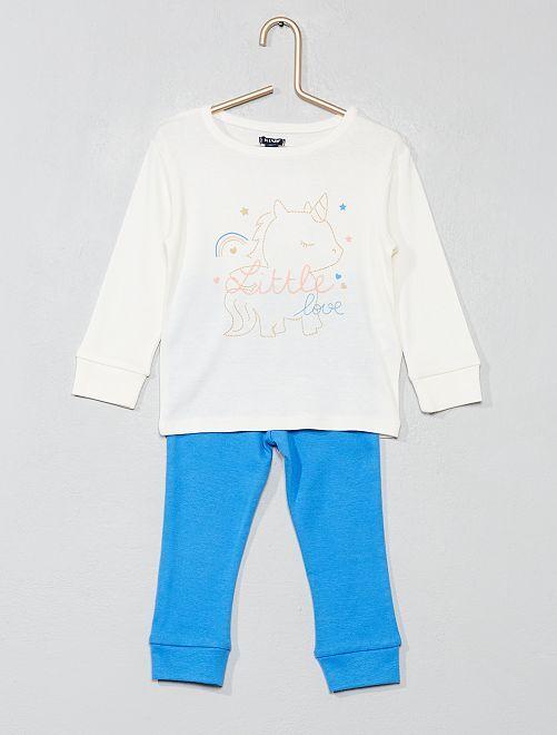 Pijama largo 'unicornio'                             BLANCO Bebé niña