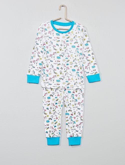 Pijama largo 'unicornio'                             GRIS Chica