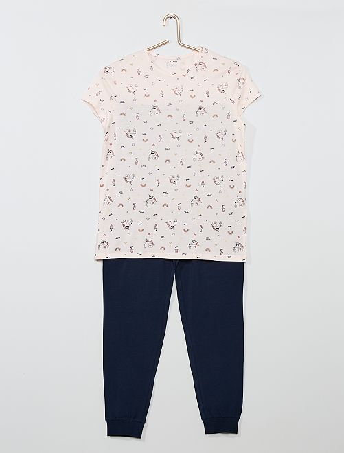 Pijama largo 'unicornio'                                         ROSA