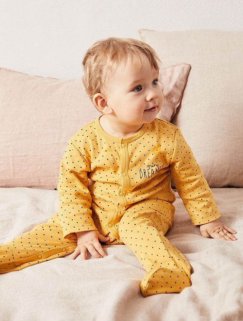 Pijama ligero de punto                                         AMARILLO Bebé niña