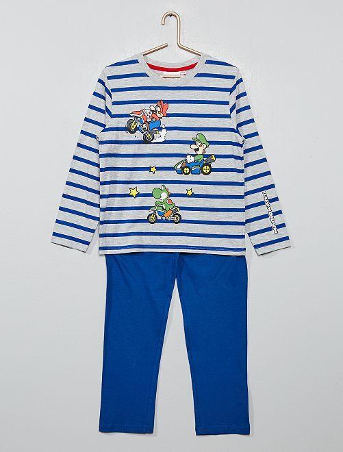 Pijama 'Mario Kart'                                                     azul rayado