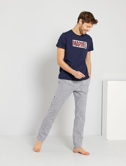 Pijama 'Marvel'                             azul negro
