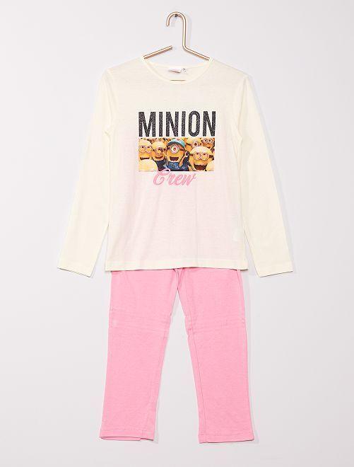 Pijama 'Minions' de 2 piezas                             beige/rosa