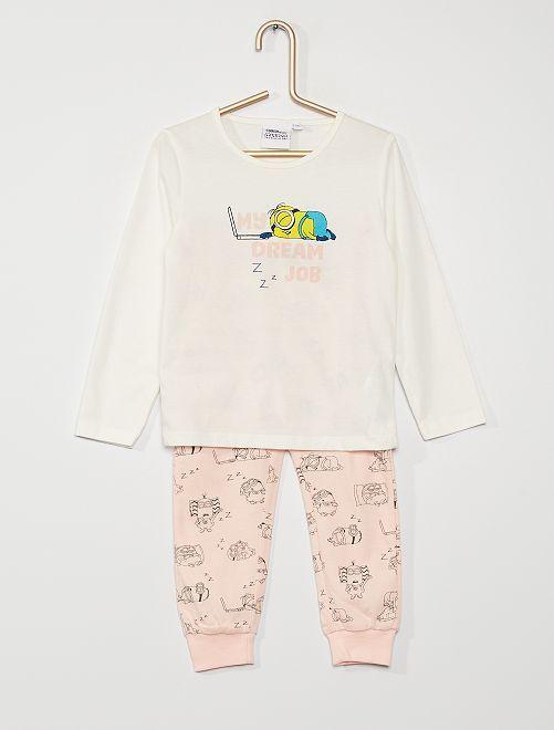 Pijama 'Minions' de punto                             BLANCO