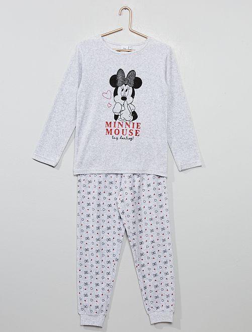Pijama 'Minnie' de tercipelo                             GRIS
