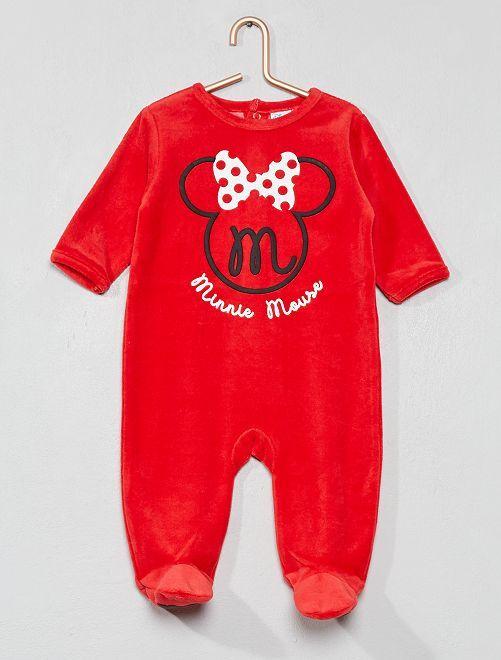 Pijama 'Minnie' de tercipelo                                         rojo Bebé niña