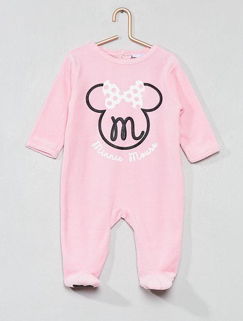 Pijama 'Minnie' de tercipelo                             rosa