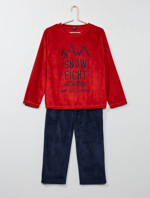 Pijama 'monstruo' de tejido polar                                         rojo Chico