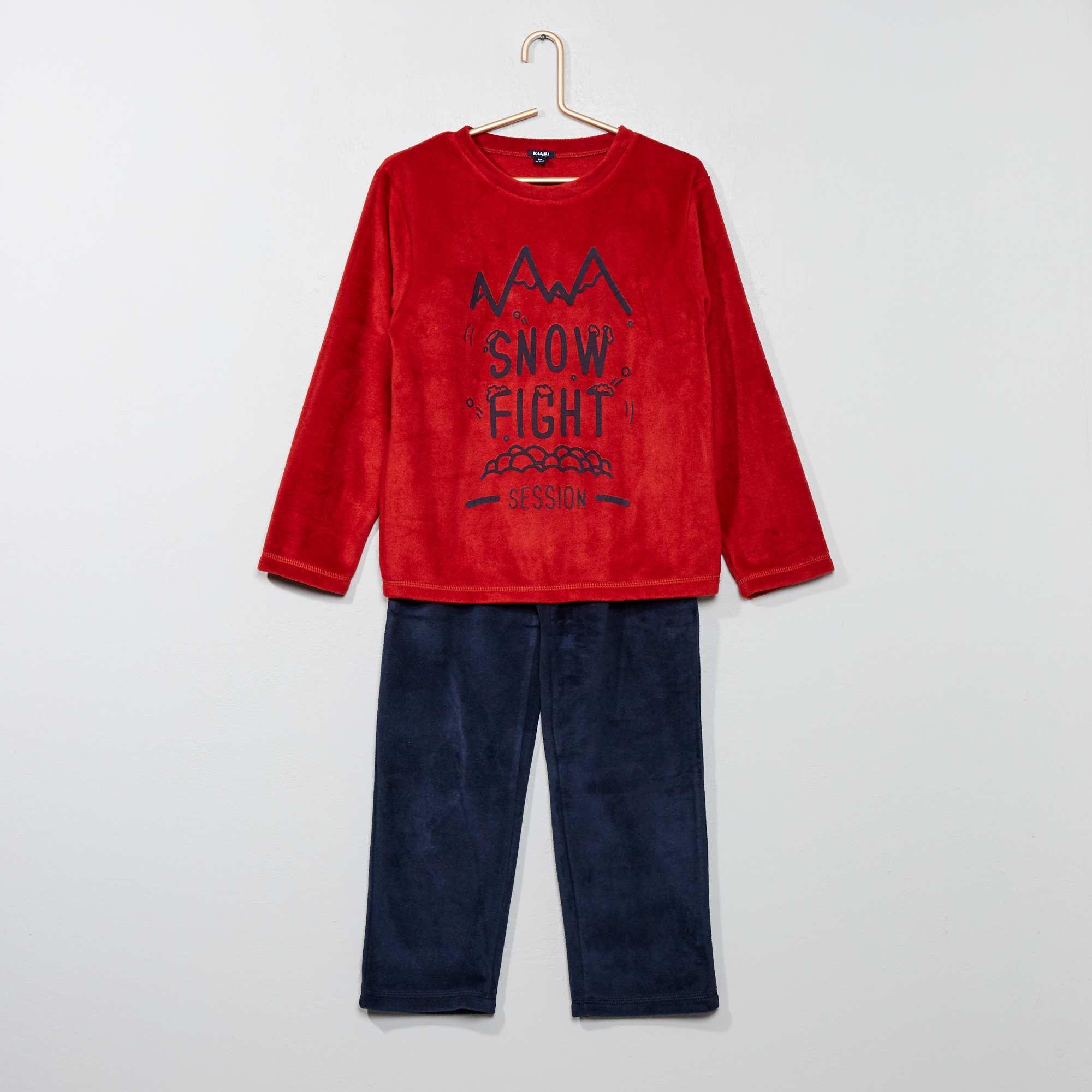 a7bdda22d Pijama  monstruo  de tejido polar Chico - rojo - Kiabi - 8