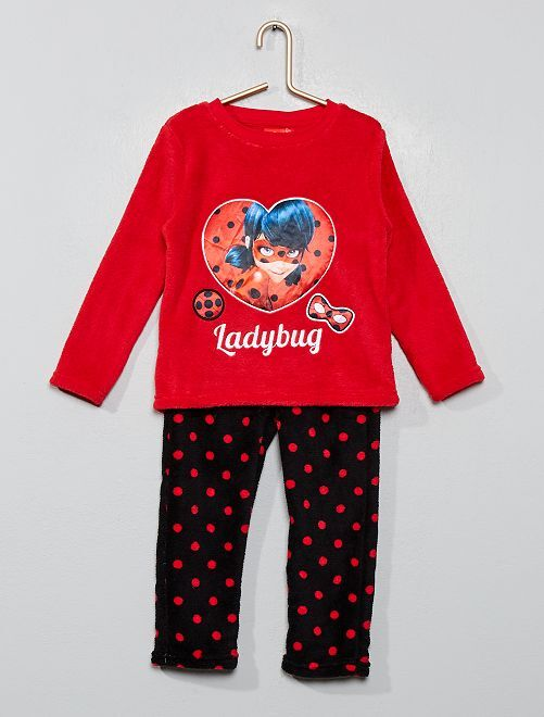 Pijama polar 'Lady Bug' 'Prodigiosa'                                         rojo/negro