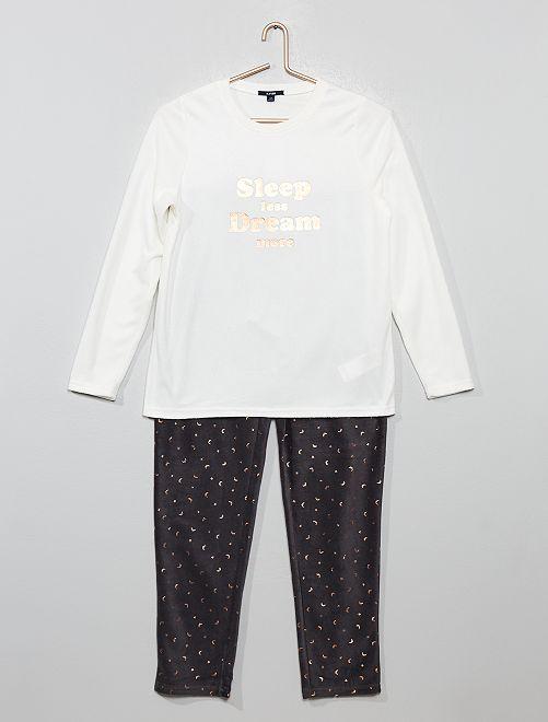 Pijama polar                             NEGRO