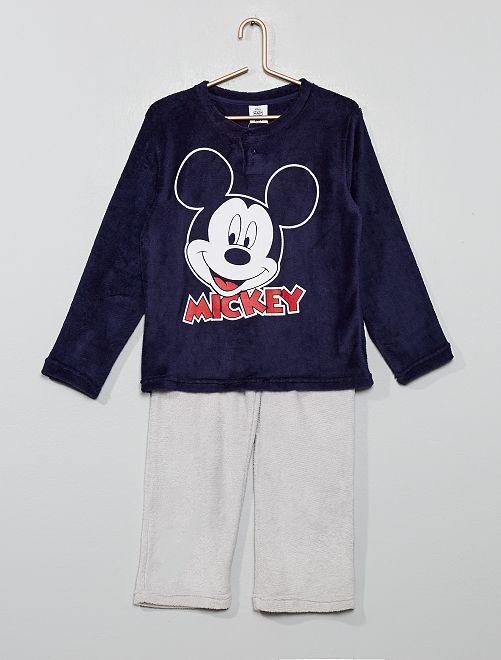 Pijama polar suave 'Mickey'                             marino/gris