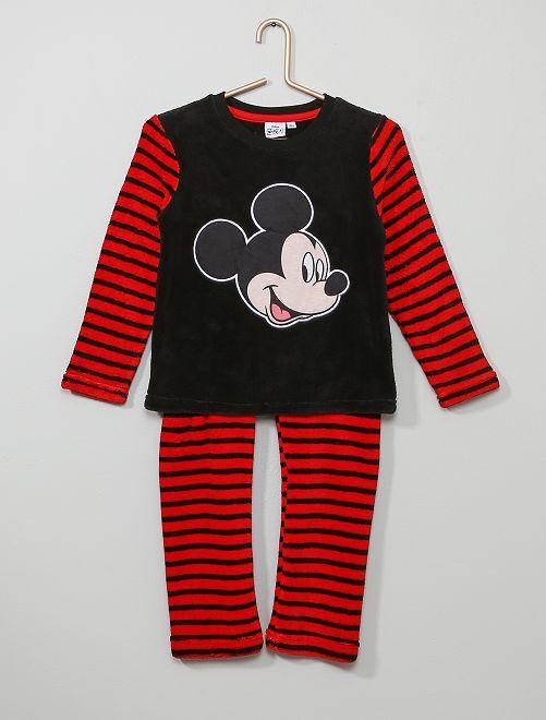 Pijama polar suave 'Mickey'                                         NEGRO