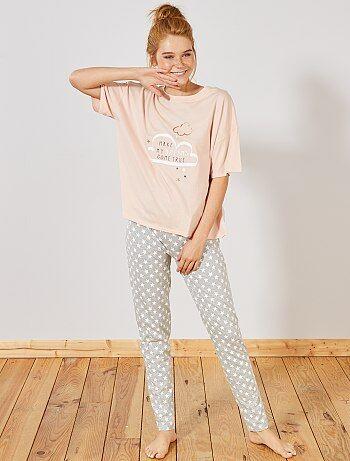 dc702bcdc9e1 Rebajas pijama mujer | pijama de felpa , algodón | Lencería de la ...