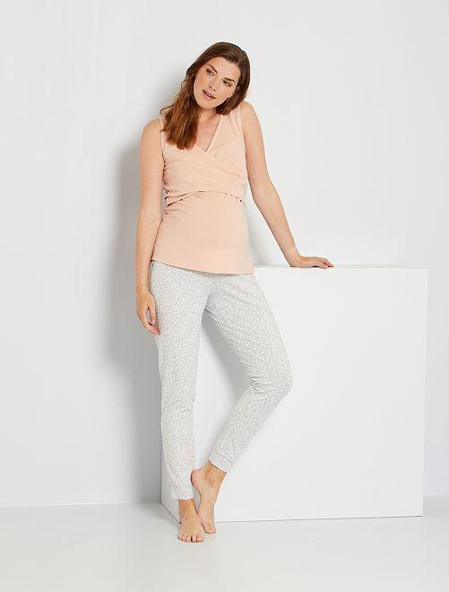 Pijama premamá y de lactancia                                         GRIS