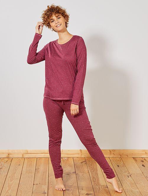 Pijama principalmente en algodón orgánico                                                                                                     ROJO