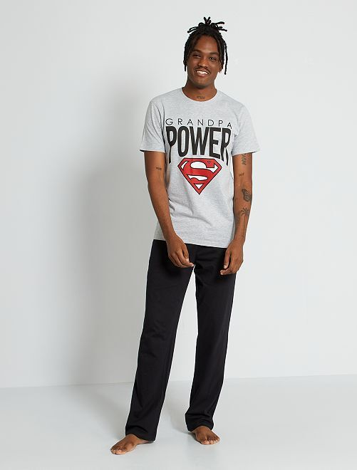 Pijama 'Superman'                             negro/gris