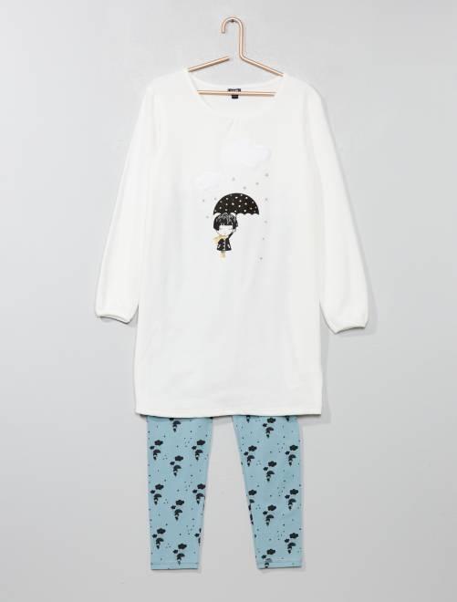 Pijama 'unicornio'                                         crudo Chica