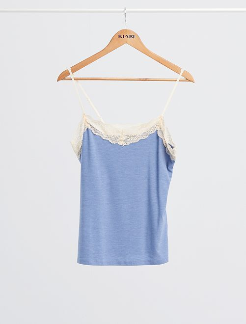 Pijama vaporoso de viscosa                                                                 AZUL