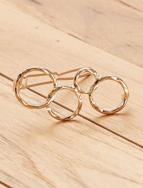 Pinzas para el pelo 'círculos'                             dorado