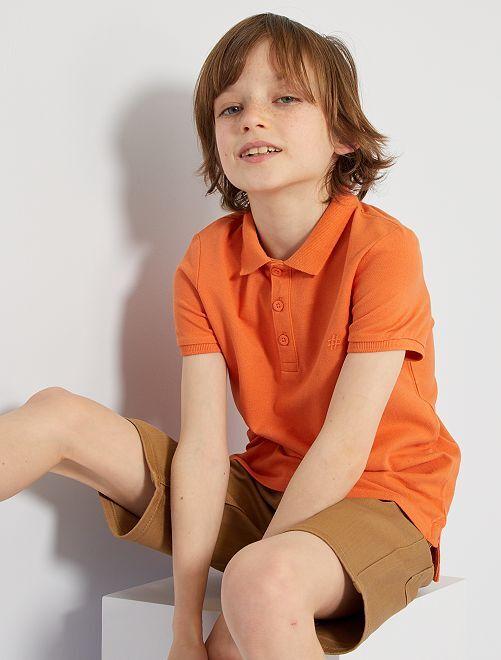 Polo bordado 'eco-concepción'                                                                                         naranja