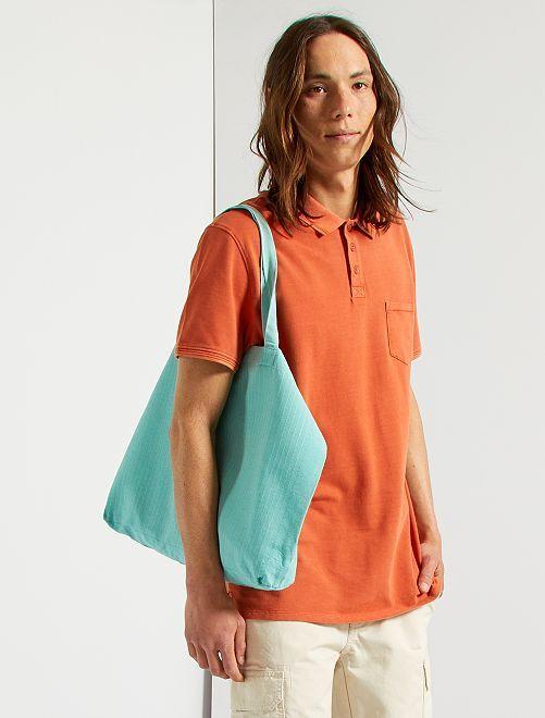 Polo con bolsillo en el pecho                                                                 naranja