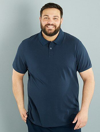 Tallas grandes hombre - Polo confort de piqué de algodón - Kiabi a7bb7ec097272