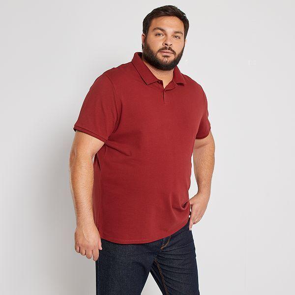 Polo Confort De Pique De Algodon Tallas Grandes Hombre Rojo Kiabi 8 00
