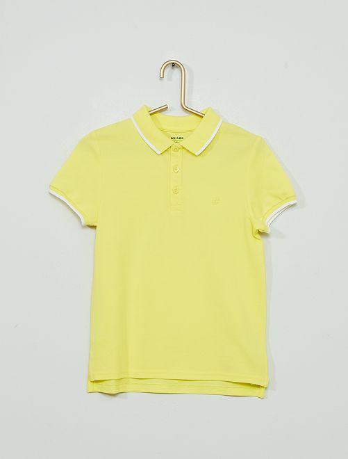 Polo de algodón 'eco-concepción'                                                                             amarillo