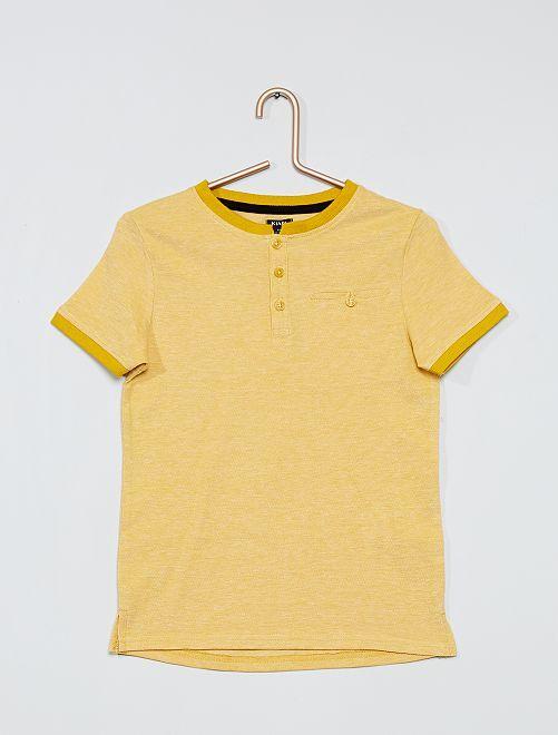 Polo de piqué de algodón                                         amarillo bronce