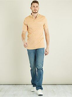 Hombre - Polo de piqué de algodón bicolor +1m90 - Kiabi