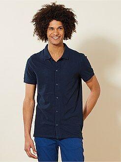 Hombre - Polo de piqué estilo camisa - Kiabi