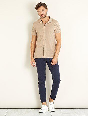 Polo de piqué estilo camisa - Kiabi