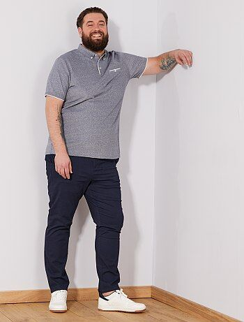 Tallas grandes hombre - Polo regular de piqué bicolor - Kiabi aadd05821f1d6
