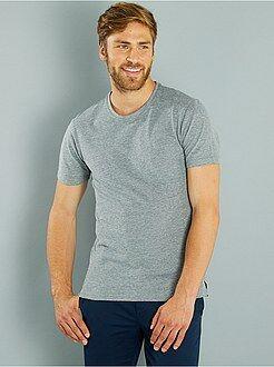 Camisetas básicas - Polo regular de punto de piqué bicolor