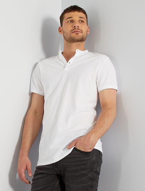 Polo slim cuello mao +1,90m                                         blanco