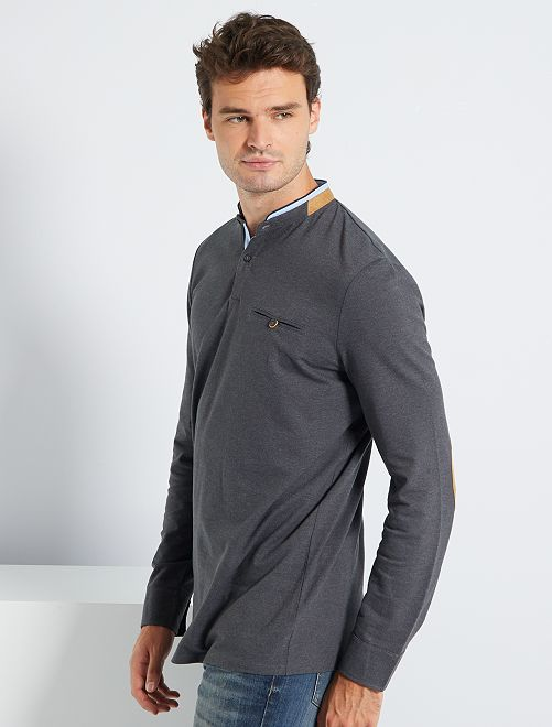 Polo slim cuello mao +1,90 m                     GRIS